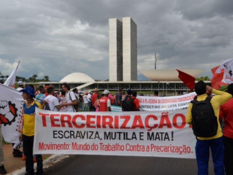 Mobilização em Brasília, em de 07 de Abril