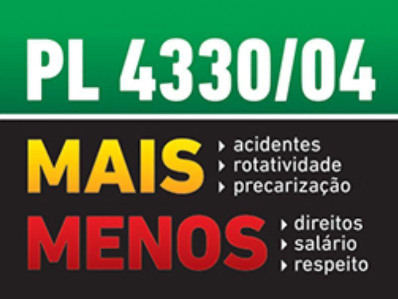 PL 4330 - precarização do trabalho